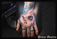 Svetlyo , Custom fantasy realistic skull hand first sitting