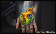 Svetlyo , Custom fantasy realistic skull hand digital drawing