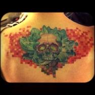 Svetlyo , Custom Skull tattoo ,