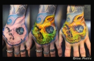 Svetlyo , Custom fantasy realistic skull hand 3 in 1