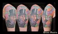 Svetlyo , Custom fantasy realistic Willy Wonka tattoo
