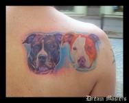 Svetlyo , Custom colour realistic dog tattoo