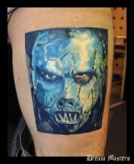 Svetlyo , Custom fantasy realistic slipknot base player tattoo